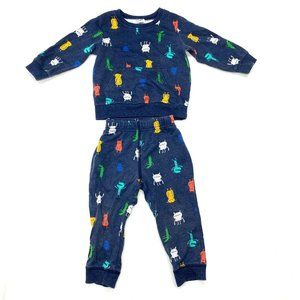 Carter's Monsters Pullover & Jogger Set Sz 18 Mos